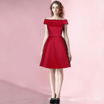 Off The Shoulder Retro Vintage Dress For Lady