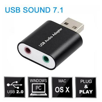 USB External Stereo Sound Adapter for Windows and Mac Plug and Play Sound Card Adapter Converter Notebook No Drivers Needed