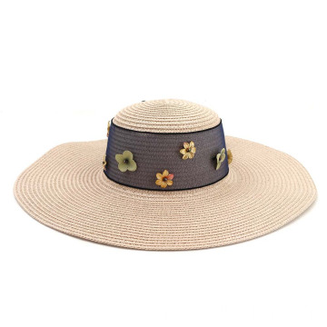 Faconne of flower design paper straw hat