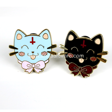 Custom Cute Animal Hard Enamel Lapel Pin