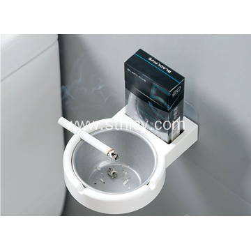 Stainless Steel Wall Ashtray For Use At Home