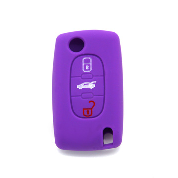 Peugeot 307 car key case silicone cover