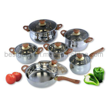 Stainless Steel 12PCS Cooking Pot Kitchenware