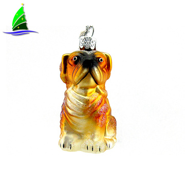 Glass Bulldog Ornament Christmas Tree Ornament