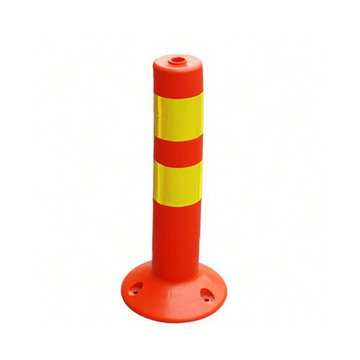 Orange Safety Warning Flexible Post