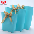 special bucket shape handle for shopping paper bag