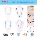 Teething Pain Relief silicone baby teething necklace