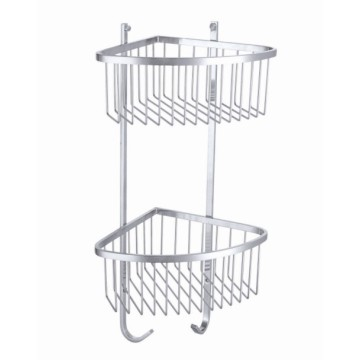 Famliy Double tier corner shelf