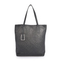 Handmade Weave Genuine Cow Leather Women Shoulder Bag