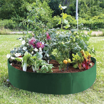 Grow Bag Garden Bed Anti-Corrosion Outdoor Vegetable Planter Non-woven Fabric Seedling Gallon Tree Handle Round Strawberry