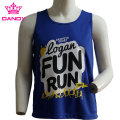 Blue running tank top