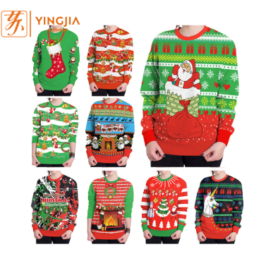 Hot Selling Christmas Digital Print Pullover Sweatshirts