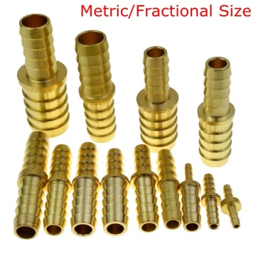 Brass Barb Hose ID Splicer Fitting Reducer /Equal Connector For Hose ID 6 8mm 1/8
