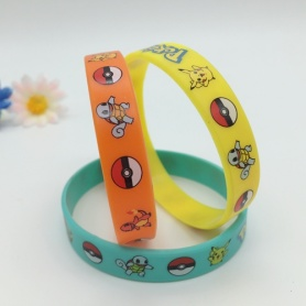 Pokemon Screen Printing Silicone Wristband