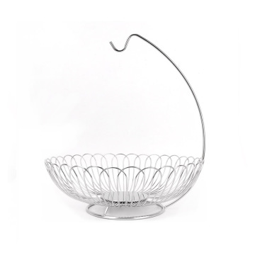 Stainless Steel Kitchen Fruit Basket With Banana Hanger