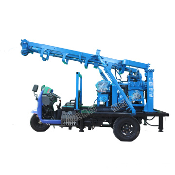Tricycle Water Drilling Rig for Depth 190m