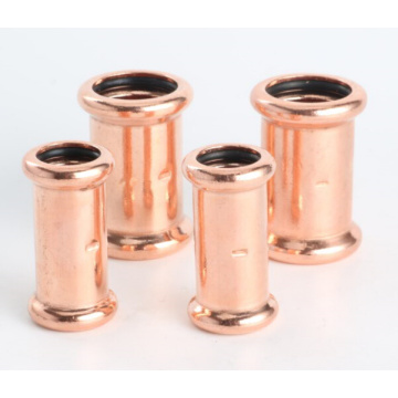 Copper M-profile press fitting 90 elbow