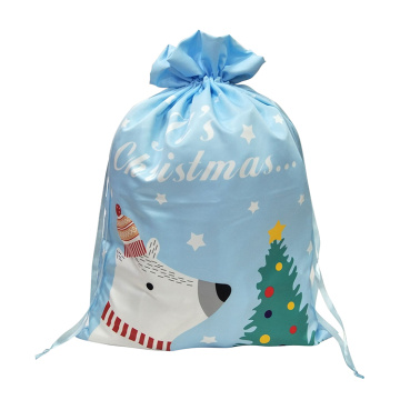 Christmas sack with bear pattern