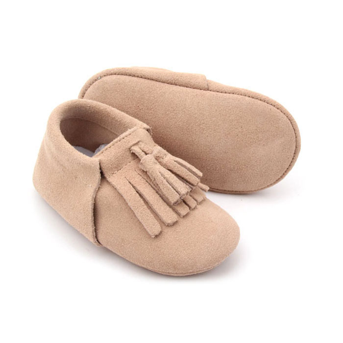 Baby toddler shoes Moccasin Soft Leather