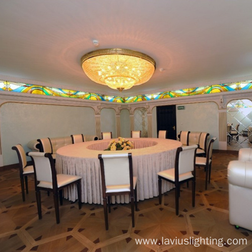 Restaurant lobby crystal chandelier pendant light