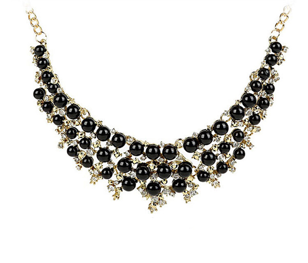 Shiny Rhinestones Collar Necklace