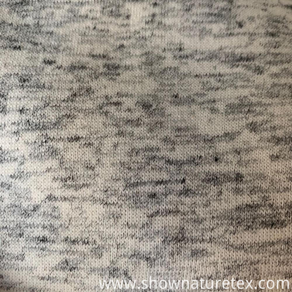 Cationic Polyester Cotton Fleece Fabric