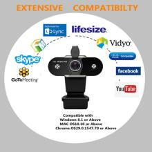 Full HD 2K Webcam For Computer Auto Focus Camera With Micphone Adjustable USB Laptop Webcams For Live Video Conference