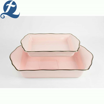 Cheap price high quality wavy phnom penh ceramic bakeware
