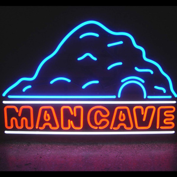 MAN CAVE LED LAMPU NEON SIGN