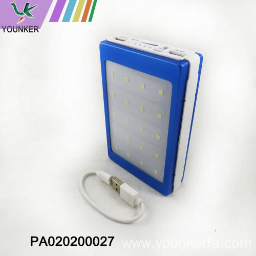 Mini style power bank with lights