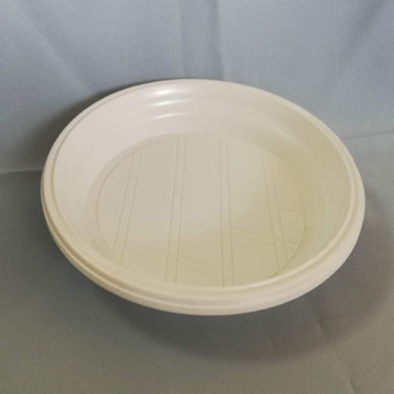 "6"" PP White Plastic Disposable Plates For Food"