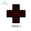 Green Color High Brightness Pharmacy LED Cross Sign 11.8In*11.8In Customized Low Voltage LED Neon Light Sign
