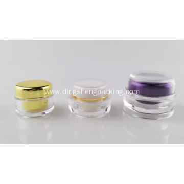 Gold personal skin care cosmetic cream jar 5g acrylic packaging with gold cap