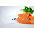 Velvet Velour Orange Color Close Toe Slipper
