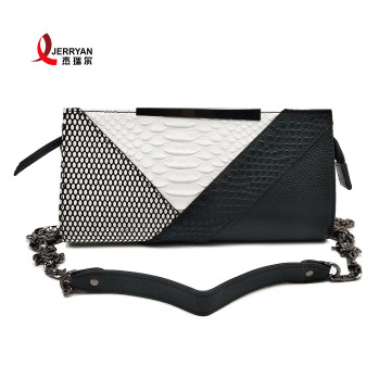 Women's Genuine Leather Black Clutch Bags Satchel Handbags