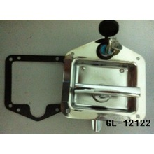 Polished Stainless Steel Folding T-Handle Latch