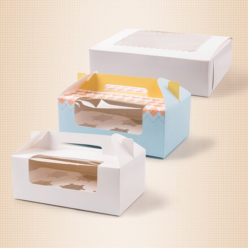 Mini Single Cupcake Package Box With Window