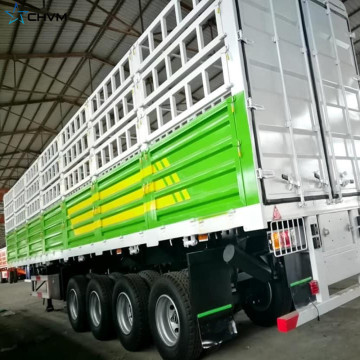 Light Tare Weight 4Axles Cargo Truck Trailer