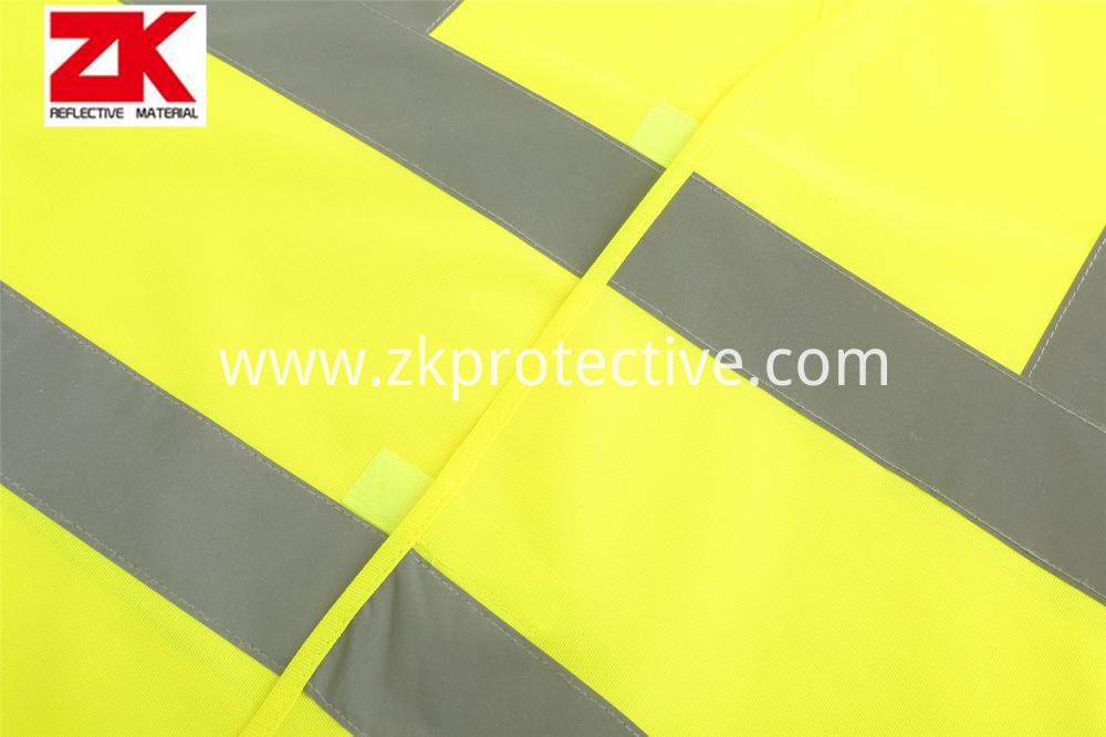 Safety Garment With Reflective Tapes