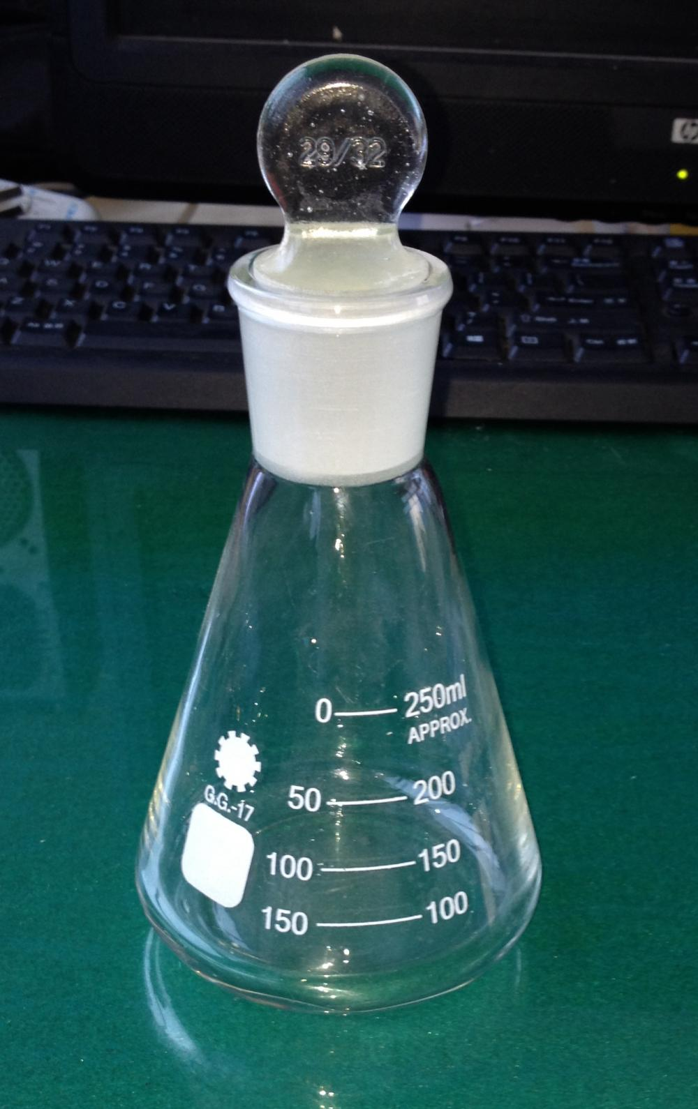 Conical Flask with Ground-in Glass Stopper