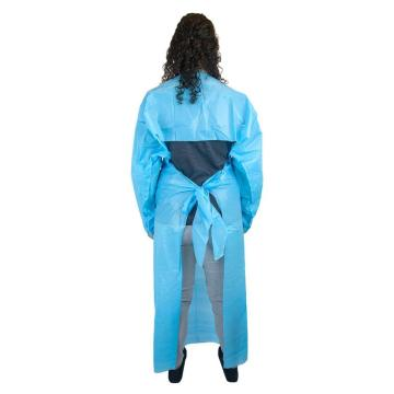 Disposable Cast Polyethylene Gown with Thumb Loops Blue Apron
