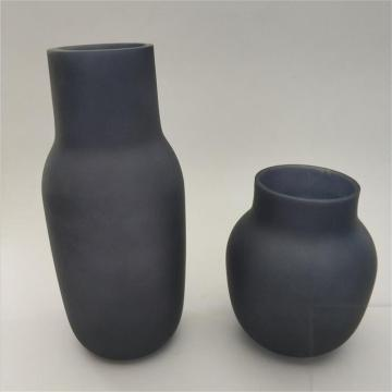 frosted black glass flower vase wholesale