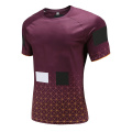 Mens Dry Fit Rugby Wear T Shirt Plaid
