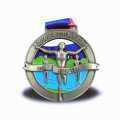 Custom bronze metal finisher medal