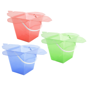 flower packaging bucket plastic boxes for gift