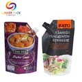 Reclosable Stand Up Sauce Spout Packaging Plastic Bag