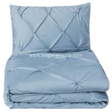Pinch Pleat Brushed Microfiber Duvet Cover Set