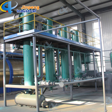 Waste Tire Pyrolysis Oil Refining Distillation Plant