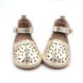 Genuine Leather Hard Sole Kids Girl Sandals