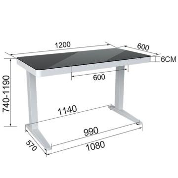 Hollin height adjustable desk standing table